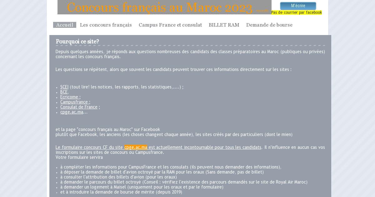 Calendrier Concours Cpge 2019.Concours Francais Au Maroc Les Concours Francais